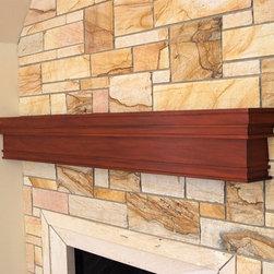 Custom Mahogany Mantel - Custom craftsman mahogany mantel.