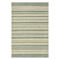 """Loloi Rugs - Loloi Rugs Abacus Collection - Ivory / Mist, 5'-0"""" x 7'-6"""" - The Abacus Collection from China features a trendy series of rugs that pack a modern punch. Its poly-acrylic hand-tufted construction has the look and feel of wool while offering everlasting durability. What's more, its fun patterns are accented by an alluring looped texture that partners well with the cut pile for an added dimension of visual interest."""