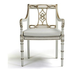 Courtesan Accent Chair by Alden Parkes - The Courtesan Accent Chair is a traditional piece that features hand-carved mahogany with mortise and tenon construction.