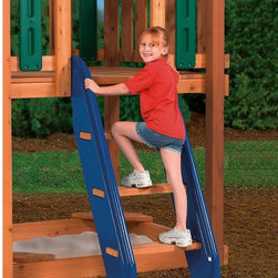 PlayStar Playsets - PlayStar Playsets Climbing Steps Multicolor - PS 8860 - Shop for Swings Slides and Gyms from Hayneedle.com! You can't go down the slide if you can't get on the deck. The PlayStar Climbing Steps make it easy and safe even for little ones with extra wide steps and kid-sized safety rail. Designed to fit 48- or 60-inch decks this kit is adjustable for any width deck opening. Kit includes two brackets hardware and easy-to-follow instructions. Use your own lumber or order separately.About PlayStarPlayStar was started in the Heartland of America in the garage of an entrepreneur with this dream: to build a foundation of people who were hardworking friendly professional and self-motivated to do the right thing to offer the ultimate customer service and provide the highest value best quality and most innovative products. All PlayStar Playsets are designed following company safety standards that exceed government guidelines to enhance your child's physical development and social skills.
