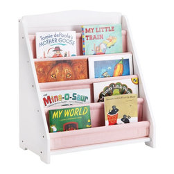 Guidecraft - Guidecraft Expressions White Book Display - G87102 - Shop for Childrens Bookcases from Hayneedle.com! Don't just read your books - display 'em with the Guidecraft Expressions White Book Display. Made of furniture-grade wood this display features four sling-style canvas book pockets that can hold up to 20 books total. The white finish looks great in any playroom or bedroom and the display has been safety tested for ages two and older.About GuidecraftGuidecraft was founded in 1964 in a small woodshop producing 10 items. Today Guidecraft's line includes over 160 educational toys and furnishings. The company's size has changed but their mission remains the same; stay true to the tradition of smart beautifully crafted wood products which allow children's minds and imaginations room to truly wonder and grow.Guidecraft plans to continue far into the future with what they do best while always giving their loyal customers what they have come to expect: expert quality excellent service and an ever-growing collection of creativity-inspiring products for children.