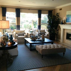 Beach Style Living Room by Rejoy Interiors, Inc.