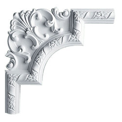 """Ekena Millwork - 11 3/8""""W  x 11 3/8""""H x 1""""P Milton Panel Moulding Corner - 11 3/8""""W  x 11 3/8""""H x 1""""P Milton Panel Moulding Corner. Our beautiful panel moulding and corners add a decorative, historic, feel to walls, ceilings, and furniture pieces. They are made from a high density urethane which gives each piece the unique details that mimic that of traditional plaster and wood designs, but at a fraction of the weight. This means a simple and easy installation for you. The best part is you can make your own shapes and sizes by simply cutting the moulding piece down to size, and then butting them up to the decorative corners. These are also commonly used for an inexpensive wainscot look."""