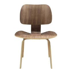 Modway - Fathom Dining Chair in Walnut - Follow an unwavering path to achieving life's aspirations. The natural wood design of the Fathom chair supports the body and manifests inborn confidence. Remove obstructions and delve deeply to present quiet fortitude and success.