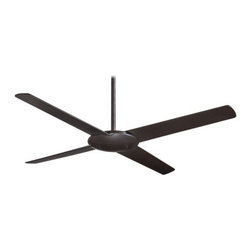 "MinkaAire - MinkaAire Pancake 52"" 4 Blade Indoor Ceiling Fan - MinkaAire F738 Four Blade Pancake Ceiling FanThe Pancake Ceiling Fan magically houses all the needed components of a high performance ceiling fan into a slim 3-inch deep body. Minimal, elegant and smooth, the profile is narrow, allowing for an unobtrusive, non-competing addition to any room.Features:"
