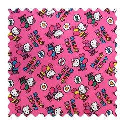 SheetWorld - SheetWorld Hello Kitty Airplanes Fabric - by The Yard - 100% cotton woven fabric. Approx. 280 thread count. Features a hello kitty airplanes print.