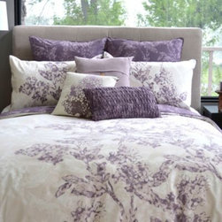 Home Textiles Inc. - May Duvet Cover and Sham Sets - Featuring 100% organic combed cotton construction, these sophisticated and fresh reversible duvet covers are perfect for enhancing the look of any bedroom. Delightful shades of purple complete their stylish look. Comes with matching sham(s).
