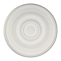 uDecor - MD-9153 Ceiling Medallion - Ceiling medallions and domes are manufactured with a dense architectural polyurethane compound (not Styrofoam) that allows it to be semi-flexible and 100% waterproof. This material is delivered pre-primed for paint. It is installed with architectural adhesive and/or finish nails. It can also be finished with caulk, spackle and your choice of paint, just like wood or MDF. A major advantage of polyurethane is that it will not expand, constrict or warp over time with changes in temperature or humidity. It's safe to install in rooms with the presence of moisture like bathrooms and kitchens. This product will not encourage the growth of mold or mildew, and it will never rot.