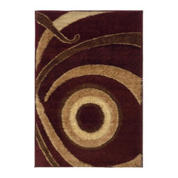 "United Weavers of America - United Weavers of America Spangles Focus Wine 6'6"" x 9'8"" Area Rugs - United Weavers of America Spangles Focus Wine 6'6"" x 9'8"" Area Rugs"