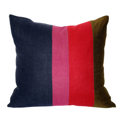 Acapillow - Pieced Stripe Pillow - Add a touch of vintage and a ton of style to your couch with this cool pillow. Made of a mix of vintage and contemporary fabrics, it's an accent that pops with personality.
