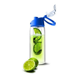 AdNArt - Blue Pure Flavour2Go Fruit Infusion Water Bottle - The Flavor Infuser Water Bottle features an easy to use infuser for enjoying any combination of flavors for your water. Ideal for enjoying flavored water at the school, pool, gym, office, while traveling or any locations where glass bottles may not be permitted. Made with high impact and durable Tritan, this bottle is designed for enjoying naturally flavored water on the go and is a reusable, healthy and economical alternative to bottled water and soft drinks. * Capacity: 20oz. * BPA-free * Dishwasher safe * Made with durable Tritan Acrylic