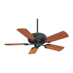 "The Pine Harbor 42"" Fan - A 42"" ceiling fan for a variety of spaces, English Bronze Finish with Reversible Blades. Weight: 16. 20 lbsFinish: English BronzeFan Blade Color: Teak / WalnutBulbs Included: NoDownrod Width: 0. 50Blade Pitch: 14. 00Safety Rating: UL, CULVoltage: 120"