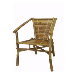 """Master Garden Products - Stackable Bamboo Chair, Set of 2 pcs., 22""""W x 22""""D x 34""""H - Our stackable bamboo chairs are great for the outdoors and indoors. They are made of mature solid Tam Vong bamboo poles and are well constructed with bamboo dowels and glue for excellent strength and beauty. Tam Vong bamboo is also know as iron bamboo or calcutta bamboo, they are harder than other types"""