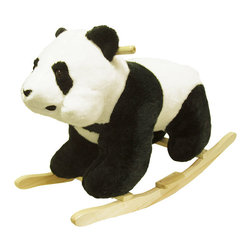 Happy Trails - Panda Bear Rocking Animal - Recommended Weight Limit: 80 lbs. Seat Ht. 19 in.. Ages: 2 years and up. Color: Black/White. 30 in. L x 14 in. W x 20 in. H (11 lbs.)