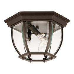 Savoy House - Savoy House Exterior Collections Flush Mount Outdoor Lighting Fixture in Bronze - Shown in picture: Decorate your favorite outdoor spaces to bring a sense of style Al Fresco!