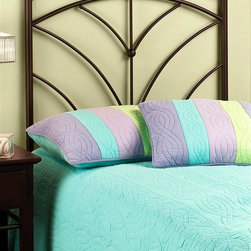 Hillsdale Furniture - Twin Thompson Duo Panel Metal Headboard in Br - For residential use. 4-Leg twin/full headboard frame. Constructed of heavy gauge tubular steel. Minor assembly required. Headboard: 42 in. W x 52 in. H. Frame: 63.5 in. L x 54 in. WHillsdale Furniture's Thompson bed boasts simple yet soft transitional design elements: gently curved spokes, an effortless silhouette, and unfettered round castings.
