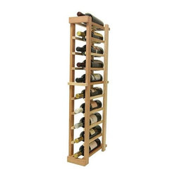 Wine Cellar Innovations - 3 ft. 1-Column Bottle Wine Rack (Premium Redwood - Light Stain) - Choose Wood Type and Stain: Premium Redwood - Light Stain. Bottle capacity: 10. One column wine rack. Versatile wine racking. Custom and organized look. Beveled and rounded edges ensures wine labels will not tear when the bottles are removed. Can accommodate just about any ceiling height. Wine rack: 5.19 in. W x 13.5 in. D x 35.97 in. H (5 lbs.). Optional base platform: 5.19 in. W x 13.38 in. D x 3.81 in. H (5 lbs.). Vintner collection. Made in USA. Warranty. Assembly Instructions. Rack should be attached to a wall to prevent wobble