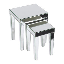 Ave Six - 2-Piece  Nesting Table Set - Includes small and large table