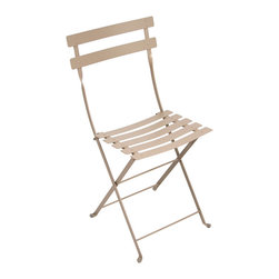 Fermob Bistro Chair - The Fermob Bistro Chair is THE design originally patented in 1889 in France. It was designed for restuarant owners to fold up and store inside at the end of the night. The Fermob Bistro Chair is now available in 24 colors and pairs perfectly with the 10 different table sizes also in the collection!