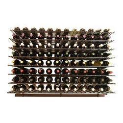 Wine Cellar Innovations - 3 Foot WineZone Wine Shelf Kit Option 2 - The WineZone Wine Shelf is a contemporary metal wine rack with a beautiful black finish in three and four foot heights. Versatile wine displays can be side to side or front to back. A wood wine shelf add on allows you to display liquors, glasses, cases, decanters, accessories, and more. Design and redesign based on your changing needs. Components sold separately. Easy assembly videos available.