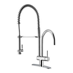 Vigo Industries - Commercial Style Chrome Kitchen Faucet - Stylish commercial style Vigo kitchen faucet will add a professional look to your kitchen decor.