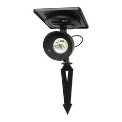Gamasonic GS-103 Progressive Solar Spot Light - This is the brightest and most versatile solar spot light to date. The Progressive solar spotlight is super bright and is perfect for up lighting trees, shrubs, signs, a flag pole, or your home. It stays bright up to 10 hours per night on a single day's solar charge. No wiring needed.