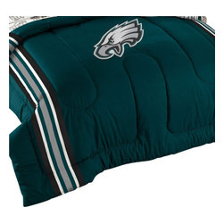 The Northwest Company - NFL Philadelphia Eagles Football Twin-Full Bed Comforter Set - Features: