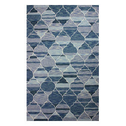 nuLOOM - Contemporary 5' x 8' Dark Blue Hand Hooked Area Rug Persian Trellis - Made from the finest materials in the world and with the uttermost care, our rugs are a great addition to your home.
