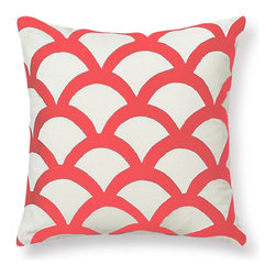Embroidered Wave Pillow Cover - This Embroidered Wave pillow cover is available in four great colors for spring.