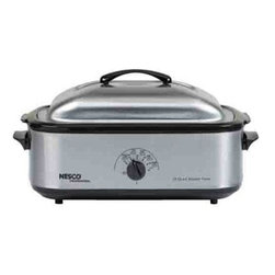 NESCO - 18-Quart Roaster Oven (Stainless Steel with Nonstick Cookwell) - 1,425W