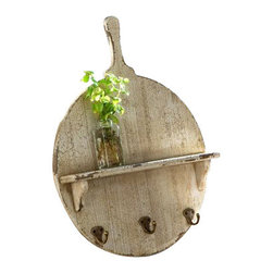 Park Hill - Cutting Board Display Shelf - Display garden finds or kitchen essentials on the Cutting Board Display Shelf. Infuse your kitchen with antique charm by placing the board on the wall or perched against the counter.
