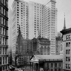 Telephone & Telegraph Bldg., Broadway & Fulton St. Print - Telephone and Telegraph Bldg., Broadway and Fulton St. Photographed by Irving Underhill in 1916.