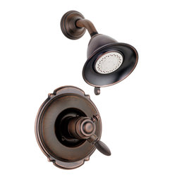 Delta - Victorian Monitor 17 Series Scald-Guard Shower Trim - Delta T17255-RB Victorian Monitor 17 Series Scald-Guard Shower Trim with Volume Control and Multi Function Showerhead in Venetian Bronze.