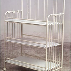 Corsican Iron Furniture - Scalloped Iron Changing Table - Scalloped Iron Changing Table