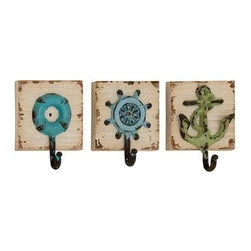 Benzara - Funky Sass Styled Creative Wall Hooks - Funky Sass Styled Creative Wall Hooks. Perk up your abode with orderliness to liven up your interior. Some assembly may be required.