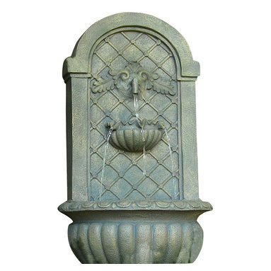 Sunnydaze Decor - Venetian Outdoor Solar Wall Fountain, French Limestone - Make morning coffee on your patio a transformative experience with the soothing sounds of running water. This sturdy Polystone fountain is wall-mounted, making it perfect for intimate courtyards or smaller outdoor spaces. Solar powered for maximum energy efficiency.