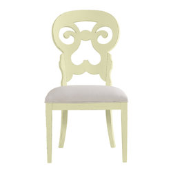 Stanley Furniture - Coastal Living Cottage Wayfarer Side Chair - Sea Grass Finish - Like the old bistro chairs outside the coastal candy shoppe, these cut-back chairs bring an easy smile to any table. Upside down heart motif gives a kiss to your lower back, while the open top section is perfectly sized to fit your palm. Made to order in America.