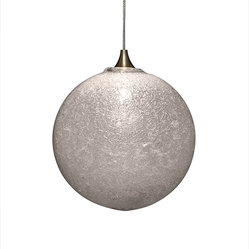 Snow Glass Pendant Light, Clear