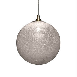 Shakuff - Snow Glass Pendant Light, Clear - Let it snow, let it snow, let it snow! Create a sparkling ambiance in your room with a crystalline frost-encrusted pendant light. You'll be dazzled by the elegant simplicity of this handblown glass orb.