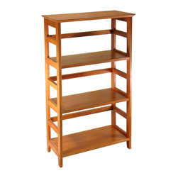 Winsome - Studio Bookshelf 3-tier - Offering substantial storage space with a polished and sleek look, the bookshelf is perfect for holding extra computer supplies. Mix and match with the rest of the Studio Home Office line.