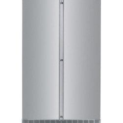 "Stainless Steel Fridges - Liebherr SBS 243 59"" 31.0 cu. ft. Side-By-Side Refrigerator, Intelligence Sensor Technology, SoftTouch Digital Display, FrostSafe System, VarioSpace System, Energy Star: Stainless Steel"