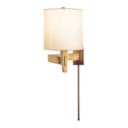 Peter Talbot Architects Swing-Arm Sconce, Hand-Rubbed Antique Brass - Some sconces can bring any space to the next level, and this is one of them. I think it's perfectly designed for a bedroom.