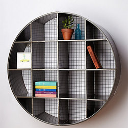Tundra Wall Cubby - This geometric wall cubby will add storage and interest to your office.