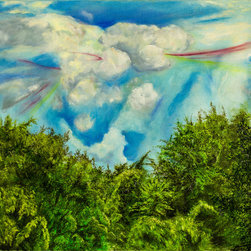 Lorna Rene' - Streaks Of Levee Heaven Artwork - This painting was created while admiring the beauty of the heavens from and near the levee. The scene was so beautiful that Lorna Rene' had to artistically share this view.