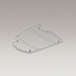 KOHLER - KOHLER Undertone(R) stainless steel sink rack for left bowl of K-3185 sink - Protect the beautiful finish of your Undertone sink with a sink rack. Designed for the left bowl of the K-3185 Undertone sink, this stainless-steel rack helps safeguard your fragile dishes and protects the sink's surface.