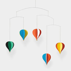 Balloon Mobile - This mobile is nice for kids or adults. The array of paper colors gives it something extra.