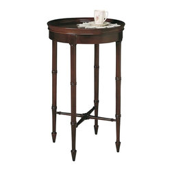 Hekman Furniture - Accents Round Wine Table - Warranty: One year. Made from select solids and veneers. Chatham finish. 16 in. Dia. x 25 in. H