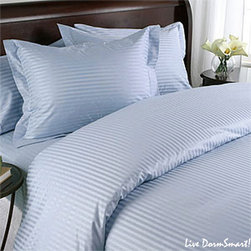 SCALA - 600TC Stripe Blue Full XL Flat Sheet & 2 Pillowcases - Redefine your everyday elegance with these luxuriously super soft Flat Sheet . This is 100% Egyptian Cotton Superior quality Flat Sheet that are truly worthy of a classy and elegant look.