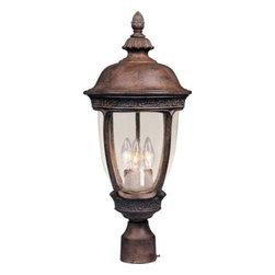 Maxim Lighting - Maxim Lighting 40461CDSE Knob Hill VX 3-Light Outdoor Pole/Post Lantern - Features
