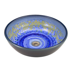 Indikoi Sinks LLC - CLASSIC: Vessel Mount Sink, Sky Crystal - The Classic style is a traditional bowl shaped vessel mount sink.